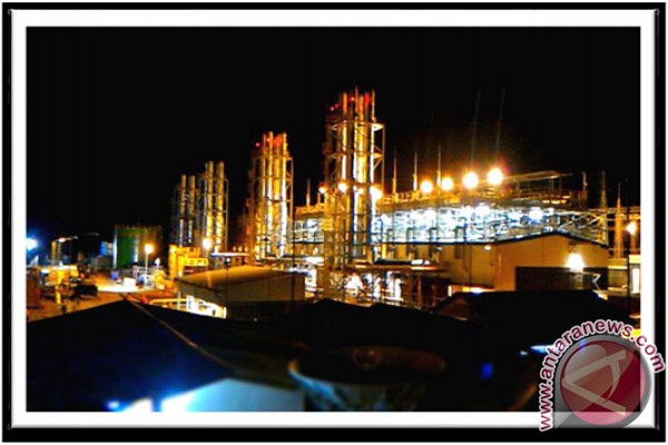 PLTMG Bangkanai in the night. PT PLN Region South and Central Kalimantan with its power eergy ready to support national strategic projects in South Kalimantan. (AntaranewsKalsel/doc/ist)